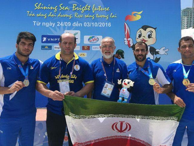 قهرمانی کشتی ساحلی ایران با دو طلا و یک نقره